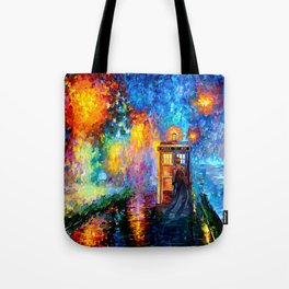 The 10th Doctor Starry The Night Tote Bag