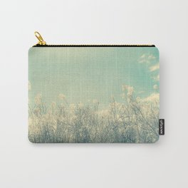 Cotton Candy Wildflowers, Baby Blue Sky Carry-All Pouch