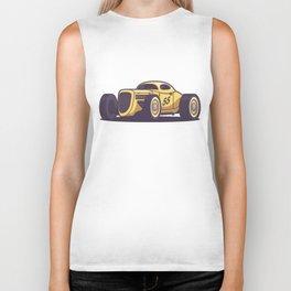 GAZ GL1 Custom Vintage Hot Rod Classic Street Racer Car - Yellow Biker Tank