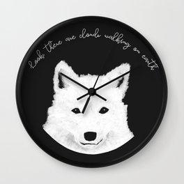 Samoyed painting Wall Clock