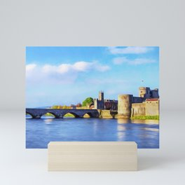 King Johns Castle and Thomond Bridge Mini Art Print