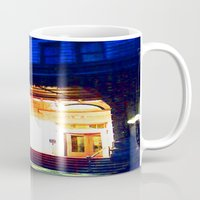 outdoor Mugs featuring In Through the Outdoor~ New York City by 13th Moon Social Club