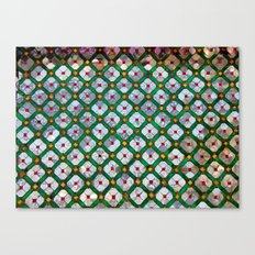 Geometric abstract tiles Canvas Print