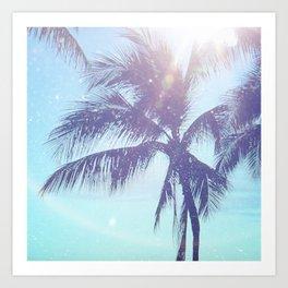 Sparkle Palms Art Print