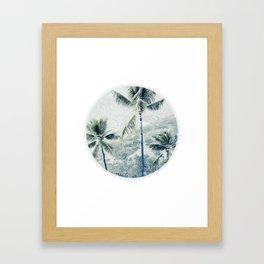 Reef palms Framed Art Print