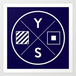 YS Logo - White Outline Art Print