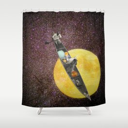Fishing for the Moon Shower Curtain