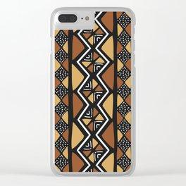 African mud cloth Mali Clear iPhone Case