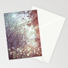 Forest Trees Magical Nature Fireflies Woods Stationery Cards