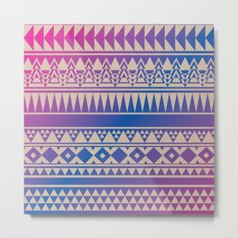 Aztec Pattern No. 15 Metal Print