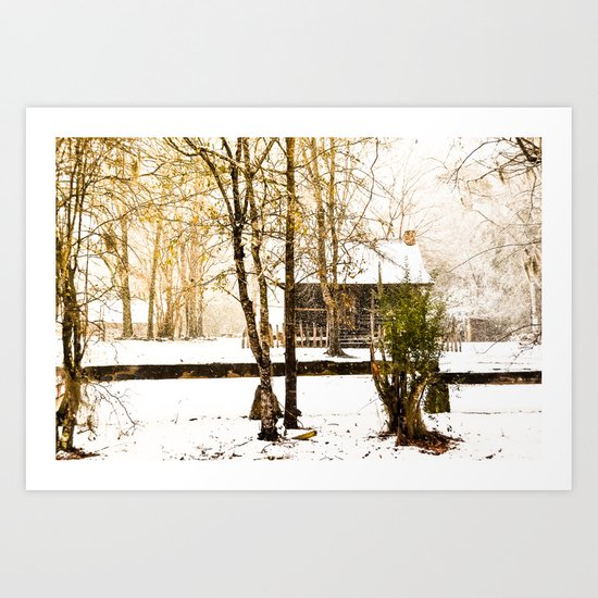 Hidden Winter Art Print
