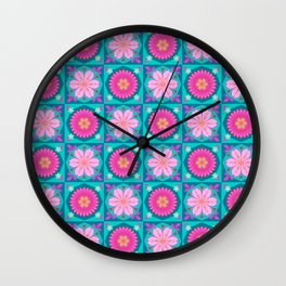 Japanese Blossoms Wall Clock