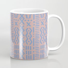 Mudcloth No. 1 in Blush + Dusty Blue Coffee Mug
