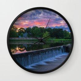 Wehr's Dam Spectacular Sunset Wall Clock