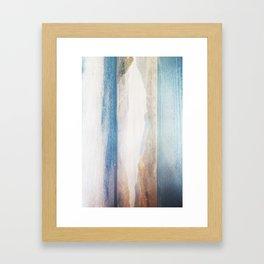 MM 332 . Gold Mountains x Ocean Sky Framed Art Print