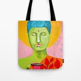 Even the Buddha needs a cuppa 2 Tote Bag
