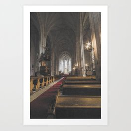 St Michael Roman Catholic Church Cluj Napoca Romania Koloszvar Art Print