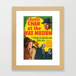 Charlie Chan at the Wax Museum, vintage movie poster Framed Art Print