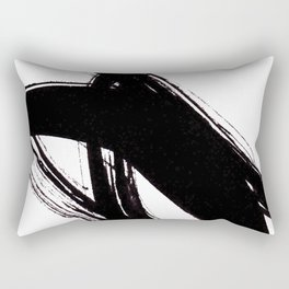 Abstract Wall art, Abstract Print, Black White Abstract Print, Black White Art, Minimalist Print, Ab Rectangular Pillow