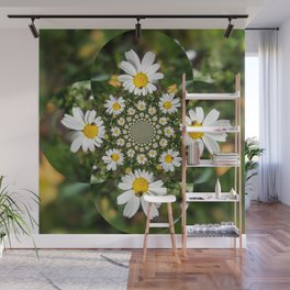 Magic Field Summer Grass - Chamomile Flower with Bug - Polarity #1 Wall Mural