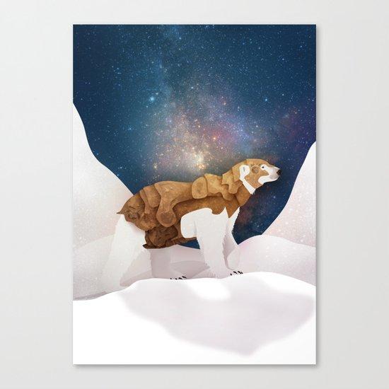 The Armored Bear Canvas Print