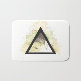 Abstract Watercolor Triangle Bath Mat
