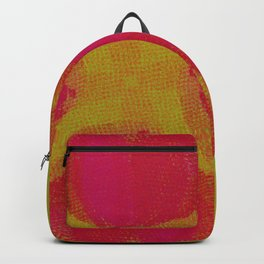 green lemon and pink flowers pattern Backpack