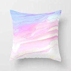 Summer seaside beach Throw Pillow