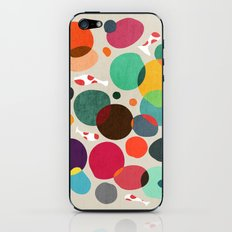 Lotus in koi pond iPhone & iPod Skin