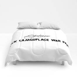 Black Camouflage War Paint Comforters