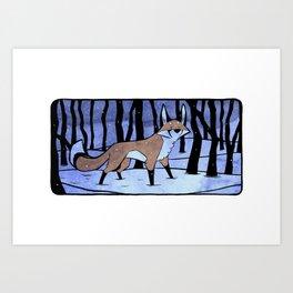 Winter Fox Art Print