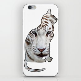 WHITE CATS iPhone Skin