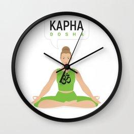 Kapha dosha. Ayurveda. Wall Clock
