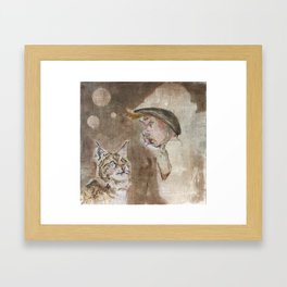 Thinking about. Framed Art Print