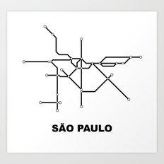 Metro - São Paulo Art Print