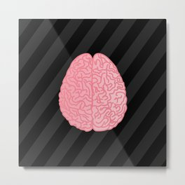 Human Anatomy - Brain Metal Print