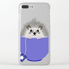 Kosher Chanukah Holiday Hedgehog Clear iPhone Case