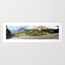 Overlooking the Famous Gold Mines of the Red Mountains Art Print