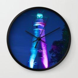 Marblehead Lighthouse Night Wall Clock