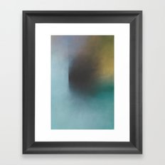 Shale Shadow - Turquoise abstract Framed Art Print