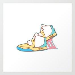 Sneakers Chewing Gum Art Print