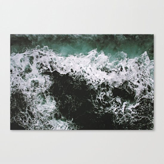 Waves #ocean Canvas Print