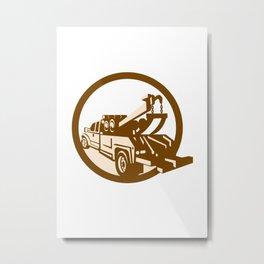 Tow Truck Wrecker Rear Retro Metal Print