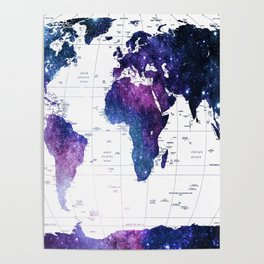 ALLOVER THE WORLD-Galaxy map Poster
