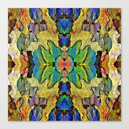Colorful  Nature Wood Pattern Psychedelic Art Canvas Print