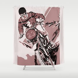 Motocross, the crosser Shower Curtain