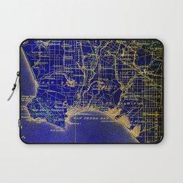 San Pedro Bay OLD MAP 1904, united states vintage maps Laptop Sleeve
