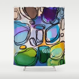 Abstract Composition 684 Shower Curtain