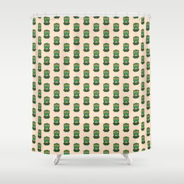 Chibi Michelangelo Ninja Turtle Shower Curtain