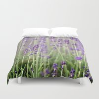 lavender Duvet Covers featuring Lavender by A Wandering Soul
